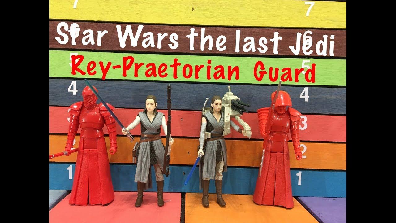 Star Wars The Last Jedi REY PRAETORIAN GUARD 3 4 Action Figures Toy Review