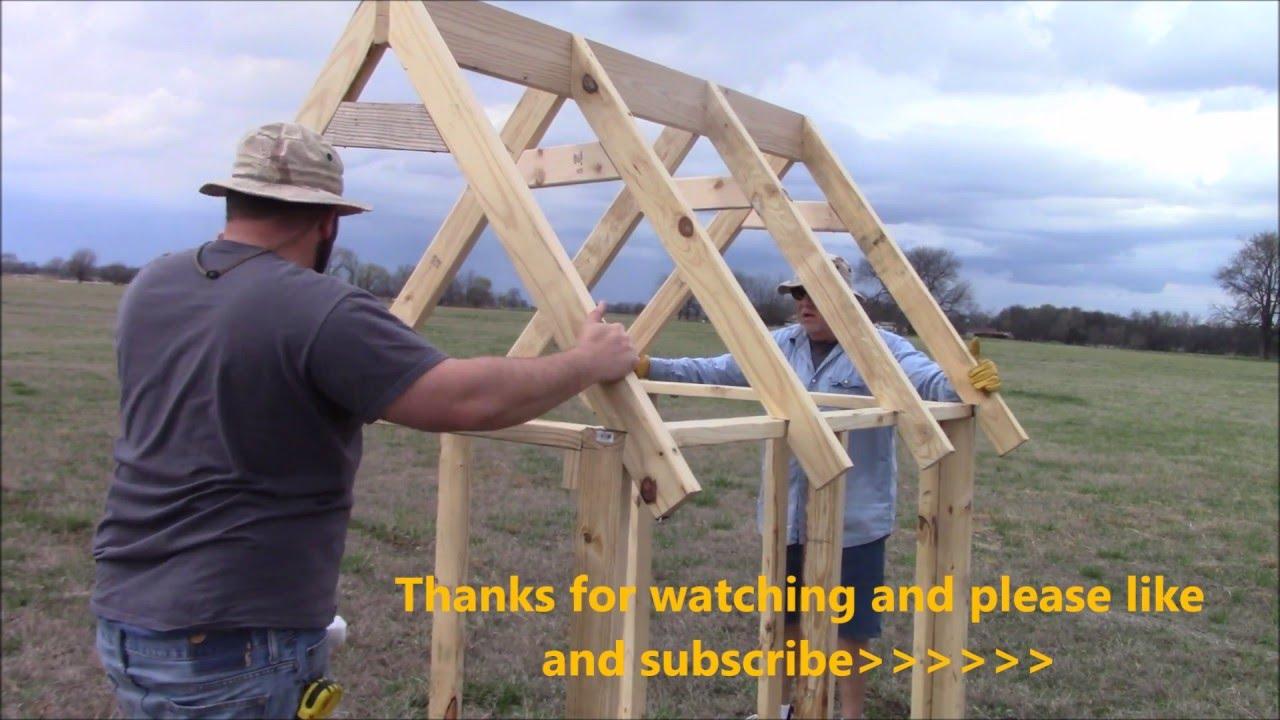 How to build a truss for a chicken coop (EASY) - YouTube