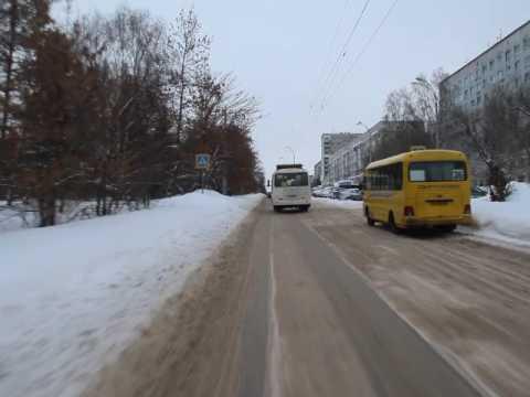Кемерово. Автобус 144, направление - совхоз Суховский. Bus route 144, destination - Sukhovski