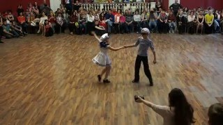 Дети шоу хастл (6) Турнир по хастлу и танго День танца ВДНХ 2016.