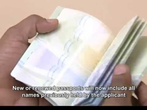 New Machine-Readable Passports
