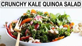 CRUNCHY KALE QUINOA SALAD    Quick + Easy