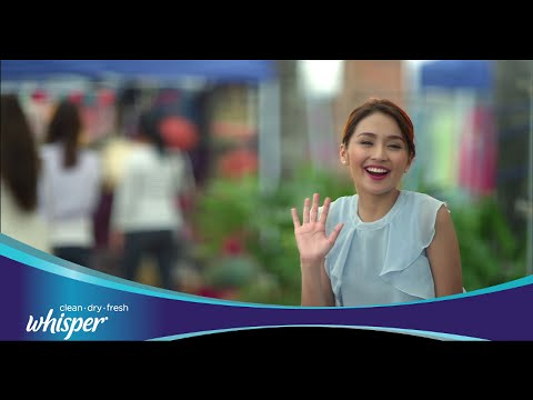 With Whisper Soft Cottony Clean, go lang si Kathryn!