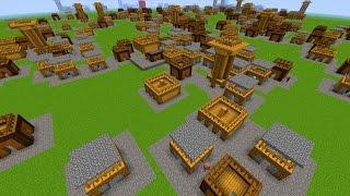 Minecraft Commands: Minecraft Command Block! Mega Dorf Generator!