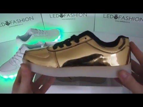 96420ebdc1a Svítící boty LEDFASHION (Led light shoes) - Showcase - YouTube