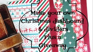 Make Your Own Christmas Dashboard & Dividers | Giveaway [closed]