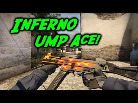 CSGO Matchmaking #7 - Inferno UMP Ace! (Clutch)