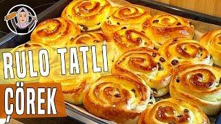 Üzümlü pudingli rulo tatli çörek tarifi-Puddingschnecken rezept-Hatice Mazi