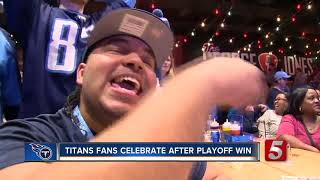 Titans Fans Celebrate After Playoff Win