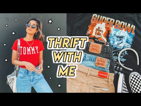 THRIFT WITH ME IN LA + HUGE GOODWILL HAUL (try on) ☆