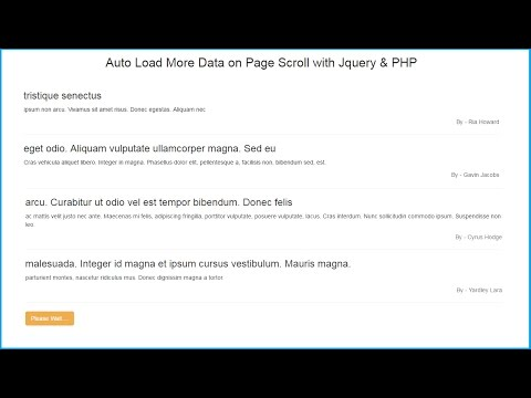 Load Content while Scrolling with Jquery Ajax PHP | Webslesson