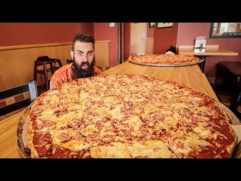 The Biggest Pizza Challenge I've Ever Seen | Trip To Buffalo Pt.2