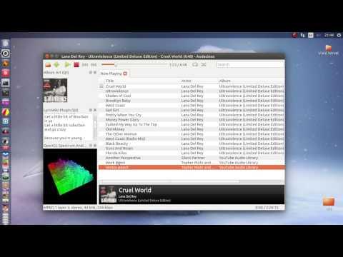 Audacious Qt audio player 3 6a1 on Ubuntu 15 04 - YouTube
