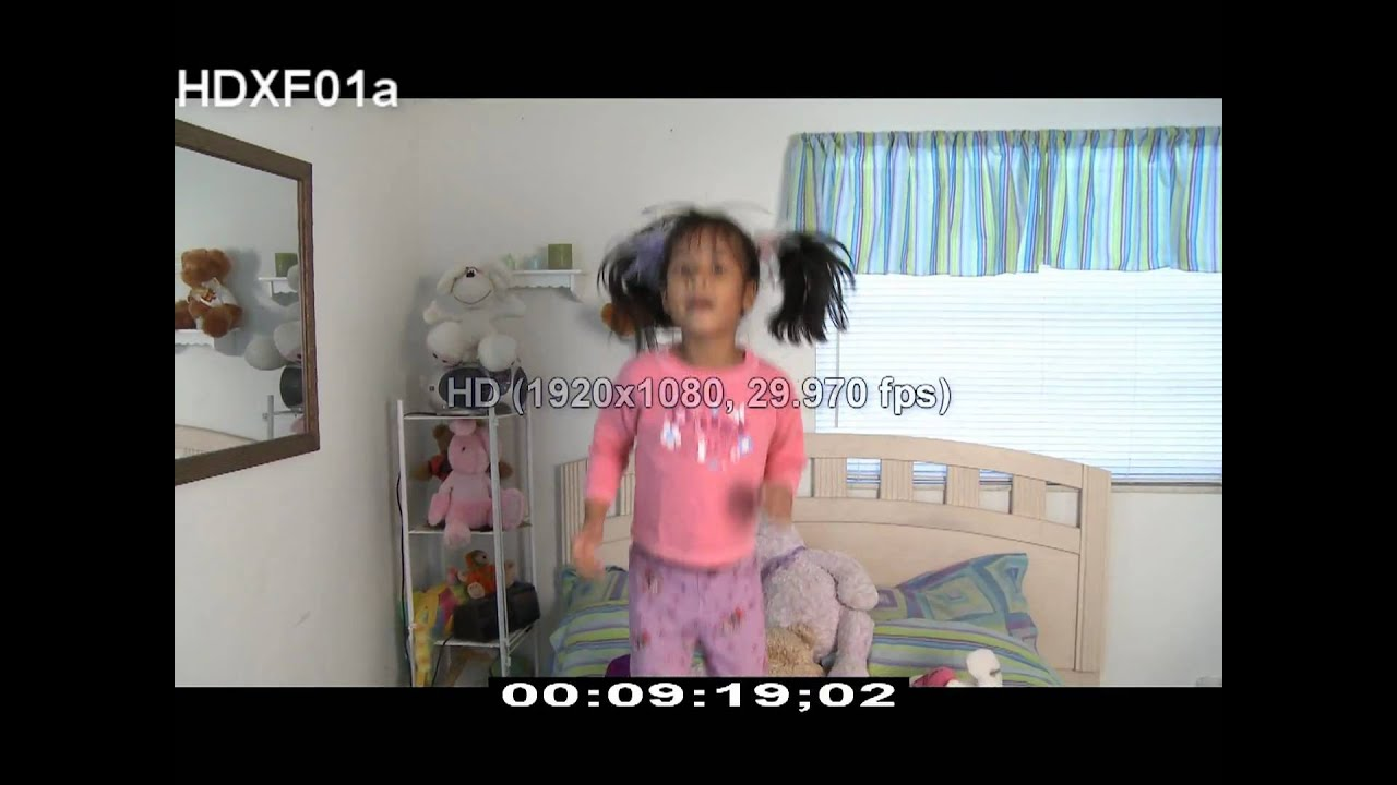 HD Stock Footage - Little Girl - Jumping on Bed - HD Stock Videos - Fun