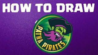 HOW TO DRAW PATNA PIRATES LOGO