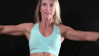 MUSCLE BEAUTIES;  DENISE PUMPING UP