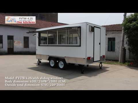Building a 4.2mere Food trailer (with sliding window)Food van,Food carts