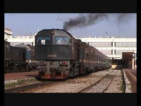 Tunisia - SNCFT 060-DK-91 departing Tunis Ville 01/2009