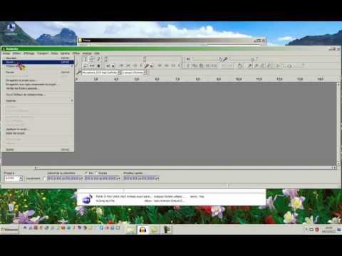 Tuto convertir un mp3 en wma avec Audacity  www.ordisecours.fr