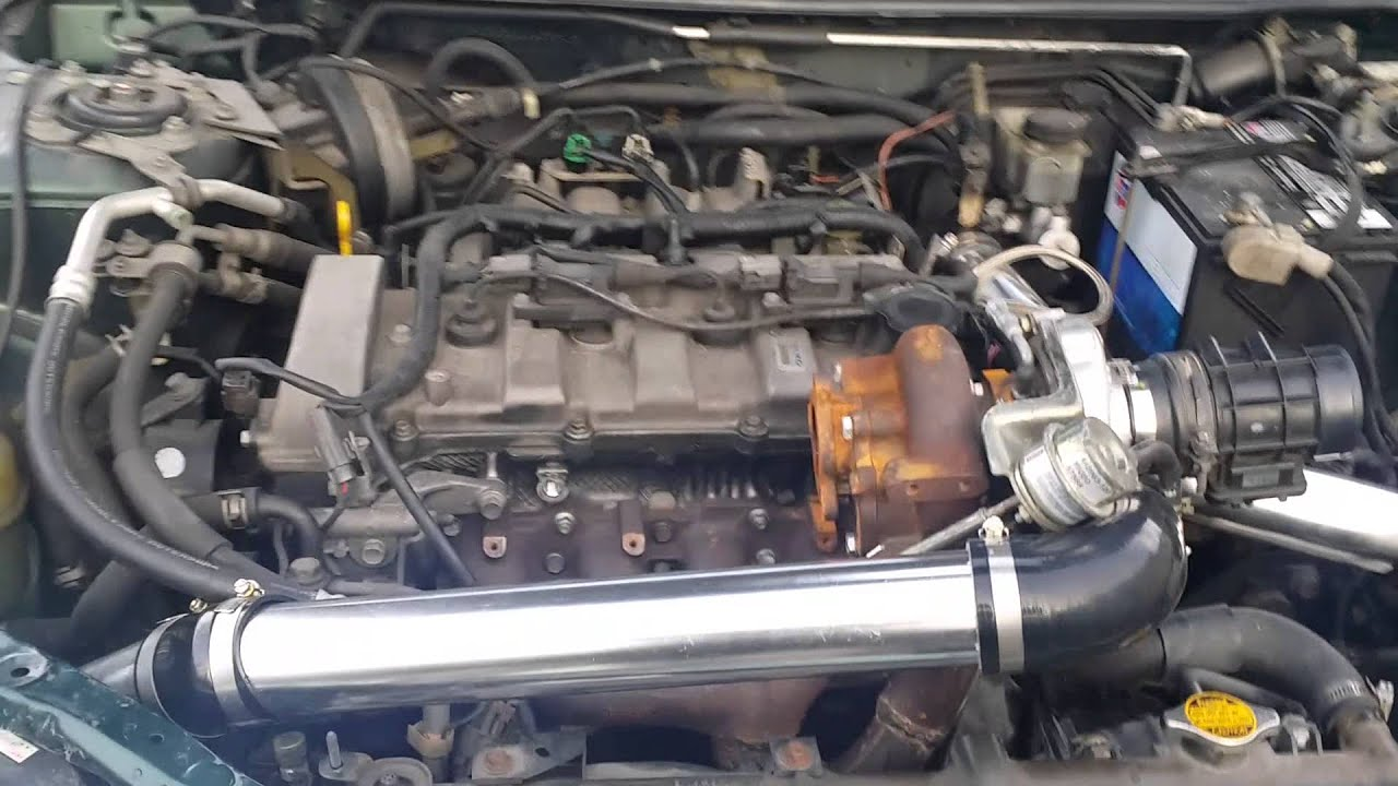 first start real homemade turbo 2001 mazda protege - youtube