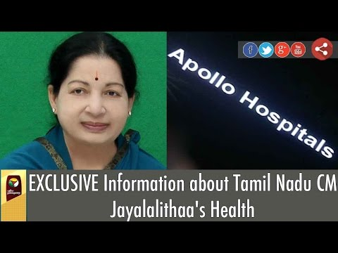 EXCLUSIVE Information about Tamil Nadu CM Jayalalithaa's Health