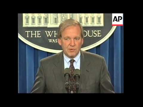 USA: WHITE HOUSE KOSOVO SITUATION PRESS CONFERENCE