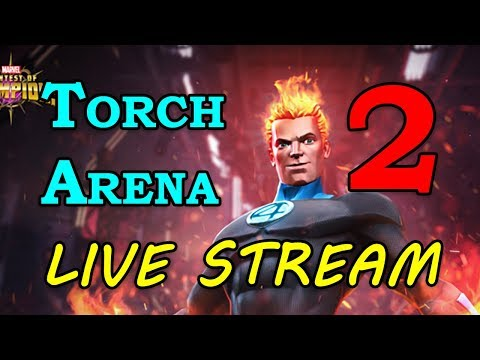 Human Torch Arena - Round 2 - Part 2 | Marvel Contest of Champions Live Stream