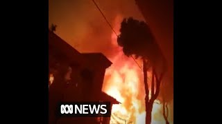 Dramatic escape for man who filmed deadly Greece blaze
