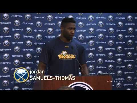 2014 Sabres Development Camp   Jordan Samuels Thomas Interview