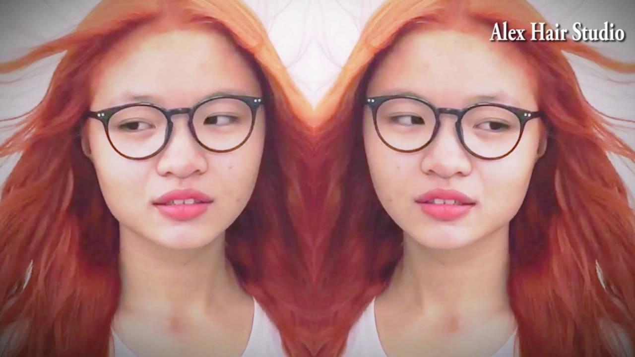 Nhuộm tóc màu cam Orange   Bao quát các tài liệu nói về màu tóc đẹp 2016 cho nữ đầy đủ