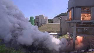 [KARI] 한국형발사체 75톤급 액체엔진 시험모델 1호기 연소시험(145초) 성공 측면영상 이미지