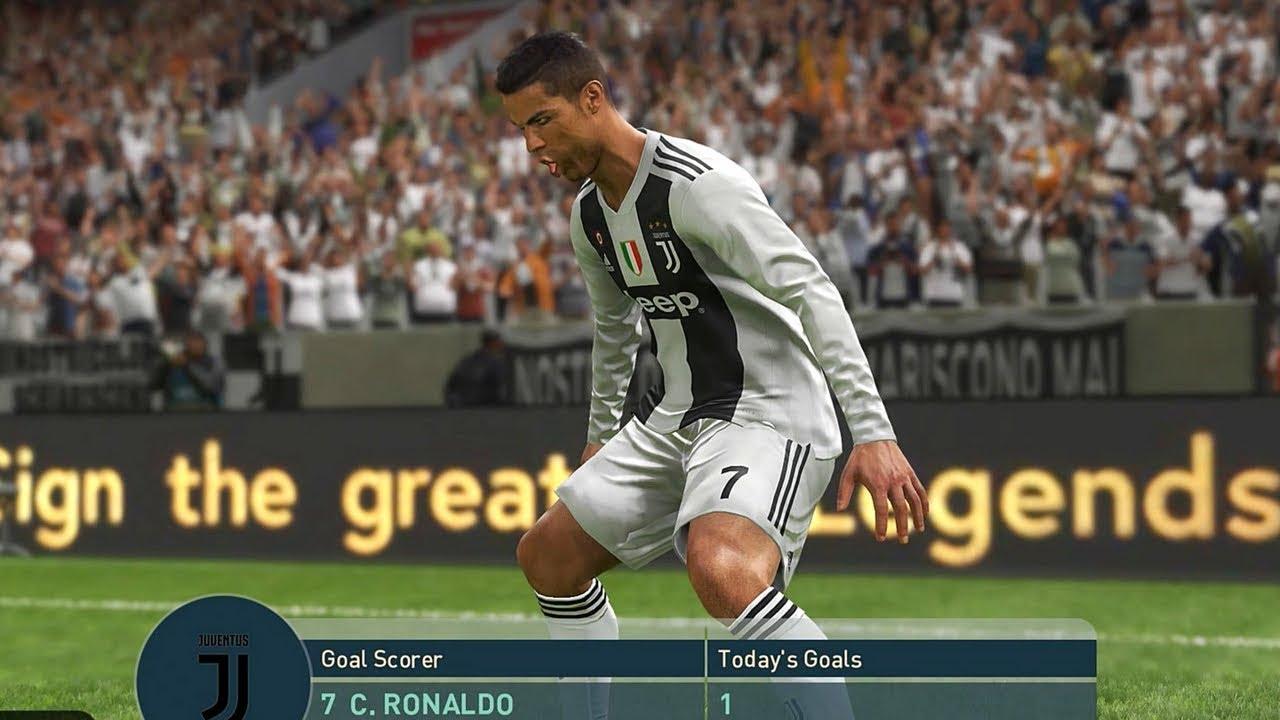PES 2019 Juventus v Barcelona Full Match
