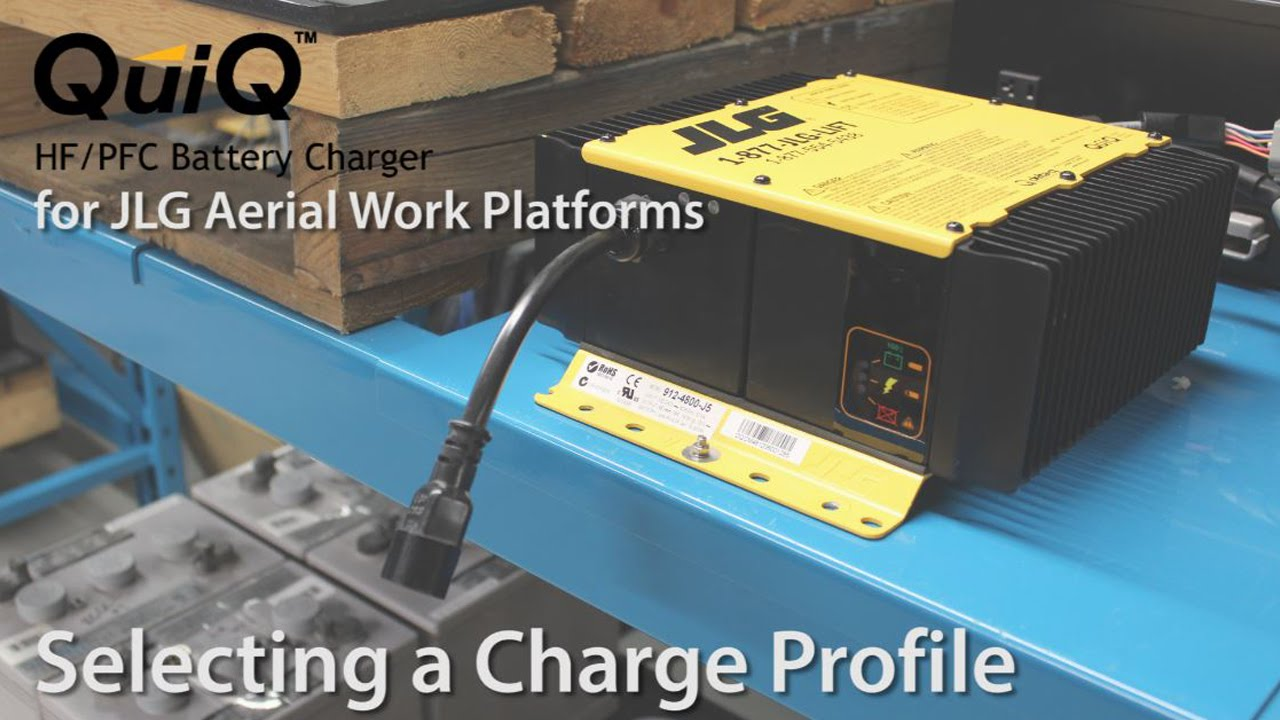 delta q quiq charger for jlg machines selecting a charge profile [ 1280 x 720 Pixel ]
