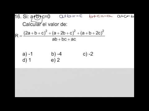 A+b+c=0,  A^2+b^2+c^2=-2(ab+bc+ac)