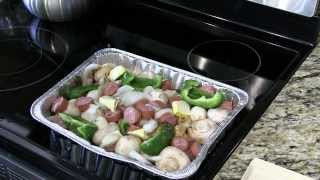 Brinkmann Electric Smoker Veggies & Kielbasa Tray Recipe