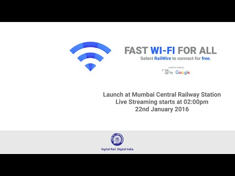 Launch of Fast WiFi for all at Mumbai Central Railway Station