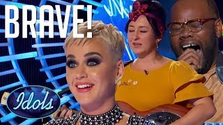 SINGING KATY PERRY Songs In Front Of Katy Perry! 3 Auditions On American Idol 2018