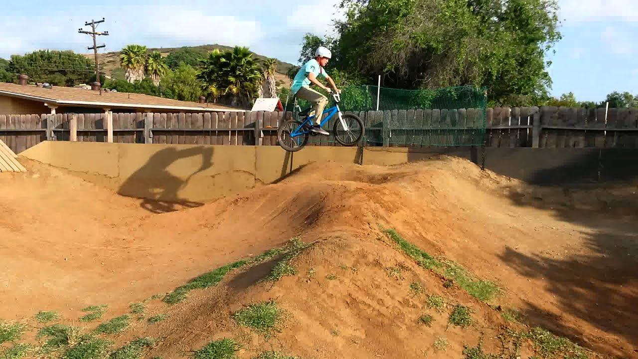 pump track wooden berm first drop in youtube