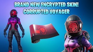 *NEW* ENCRYPTED CORRUPTED VOYAGER SKIN! + ENCRYPTED CORRUPTED WRAP! (Fortnite Battle Royale)