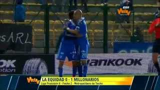 Equidad vs Millonarios (0-1) Fecha 2 Liga Postobón 2014-II
