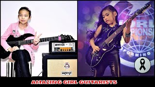 Almost Impossible Guitar  Peformances from Young Ladies! Petty -Thailand Age 8 Yoyo - China-Age 10