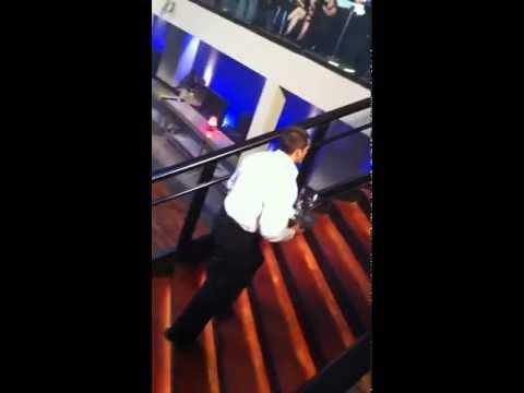 Eric Linden CSI: NY  Stair Fall Stunt