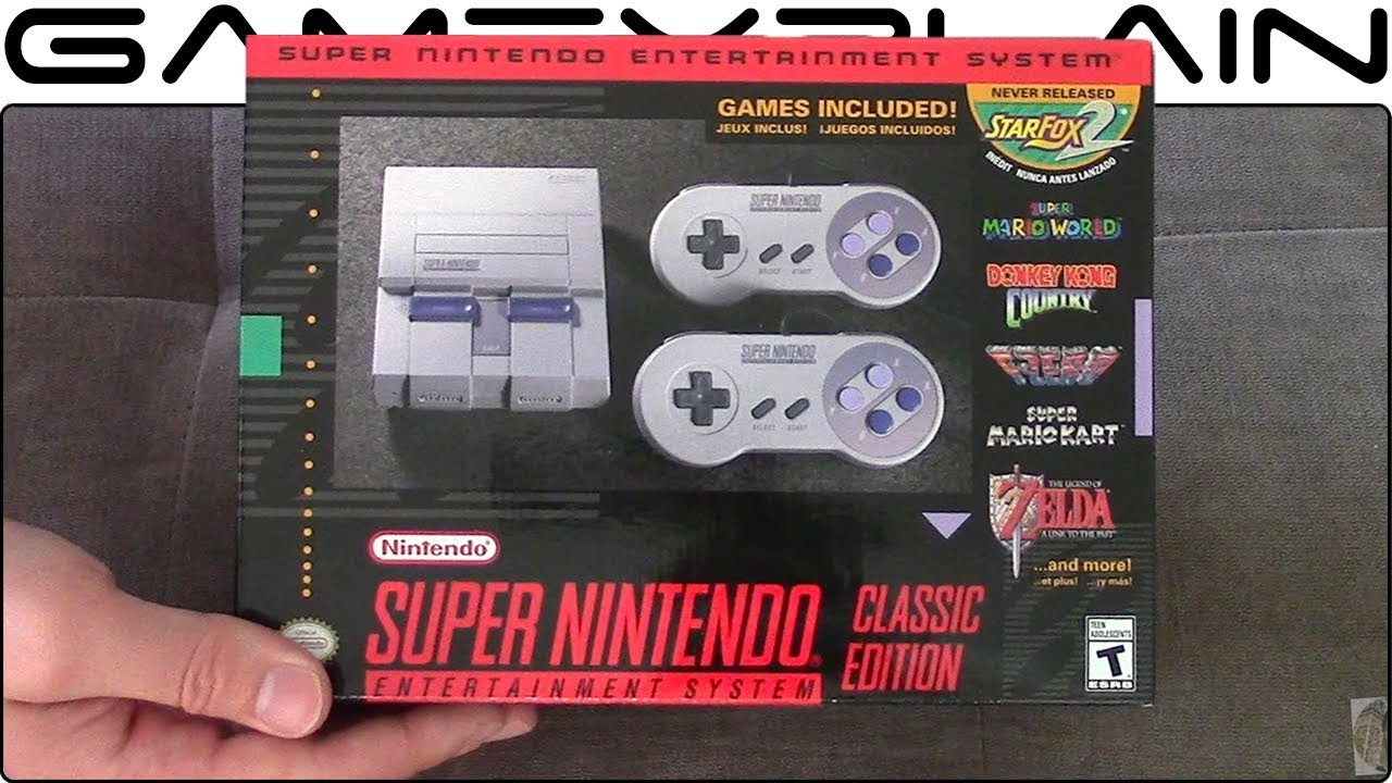 super nes classic edition unboxing youtube. Black Bedroom Furniture Sets. Home Design Ideas