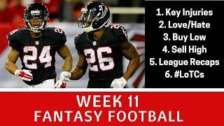 Week 11 Fantasy Football - Must Start/Sits, Buy Low, Key Injuries +