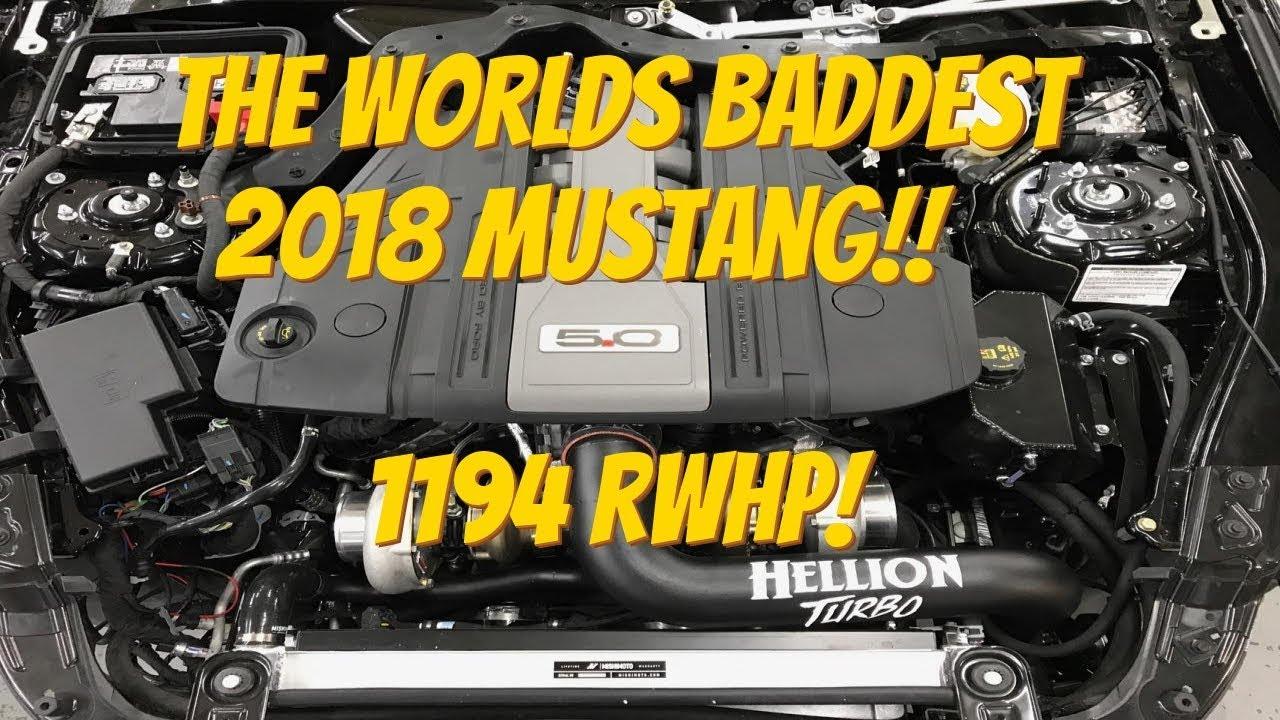 HELLION 2018 MUSTANG GT 1194 HP DYNO!