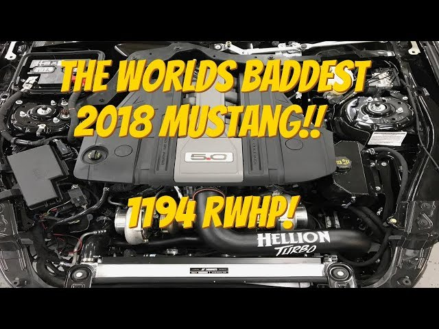 HELLION 2018 MUSTANG GT 1194 HP DYNO!