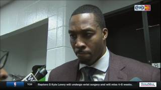 Dwight Howard reacts after getting ejected in Atlanta