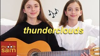 THUNDERCLOUDS -  Sia, Diplo, Labrinth Cover | Sophia and Bella Mp3