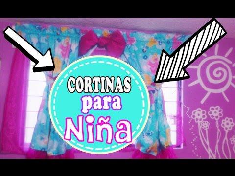 CORTINAS para Nia DE Princesas  Manualidades con Mariel