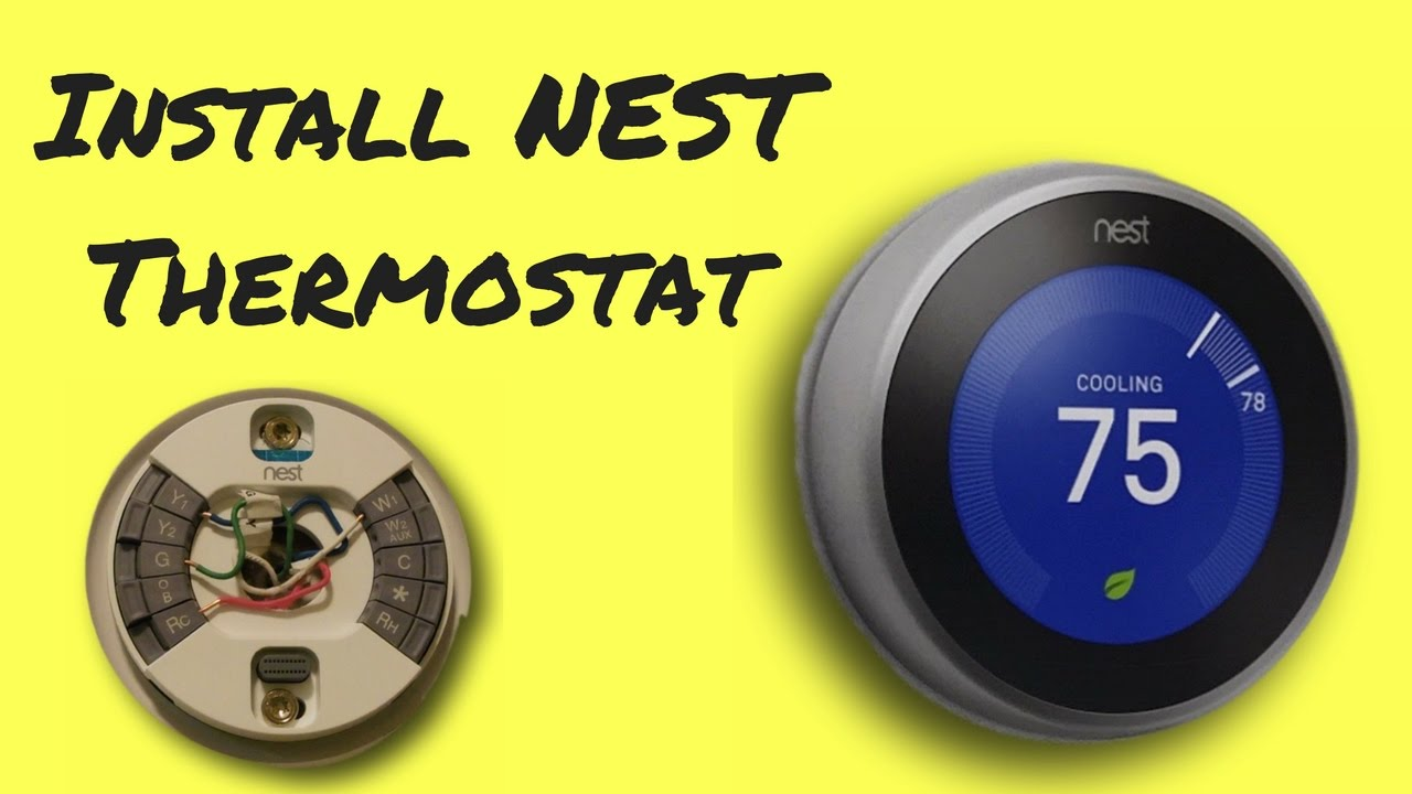 how to install nest thermostat easy youtube. Black Bedroom Furniture Sets. Home Design Ideas